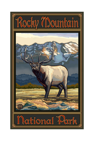 Rocky Mountain Elk Pal 515 Art by Paul A Lanquist