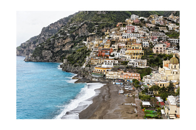 Beach of a Hillside Town, Positano, Italy Photographic Print by George Oze