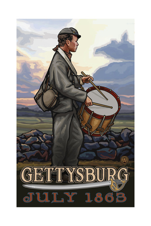 Gettysburg Drummer Boy PAL 984 Art by Paul A Lanquist