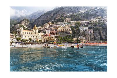 Positano Seaside View, Amalfi Coast, Italy Photographic Print by George Oze