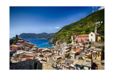 Rooftop View of Vernazza, Cinque Terre, Italy Photographic Print by George Oze