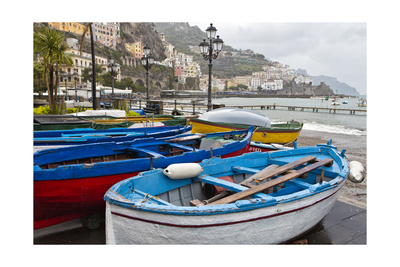 Amalfi Boats, Campania, Italy Photographic Print by George Oze