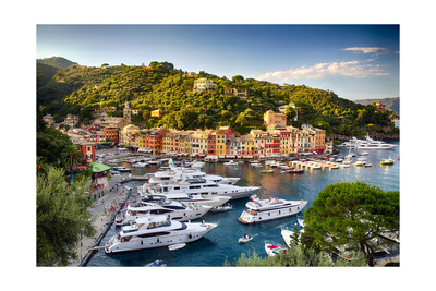Summer Afternoon in Portofino, Italy Photographic Print by George Oze