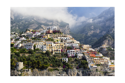 Town Built on a Hillside, Positano, Italy Photographic Print by George Oze