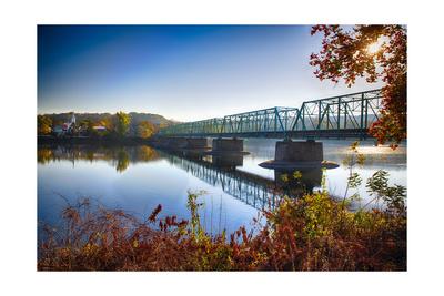 Delaware River Bridge Photographic Print by George Oze