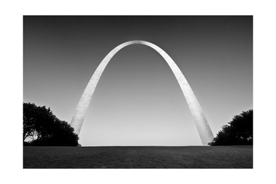 Arch BW Photographic Print by John Gusky