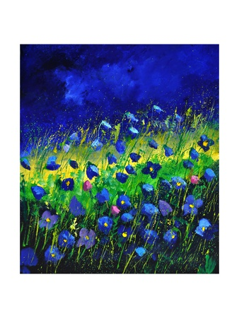 Blue Poppies 674160 Giclee Print by  Ledent
