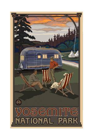 Yosemite National Park AIR Airstream Trailer Art by Paul A Lanquist