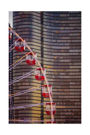 Navy Pier Wheel Chicago Photographic Print by Steve Gadomski