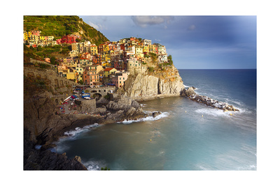 Cinque Terre coastline photo poster by George Oze, popular college travel destination
