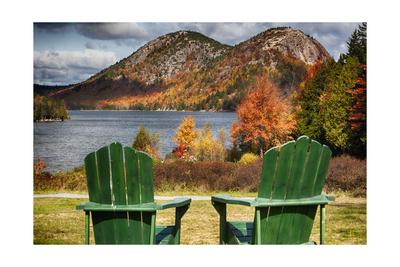 Best Seats in Acadia National Park, Maine Fotografie-Druck von George Oze