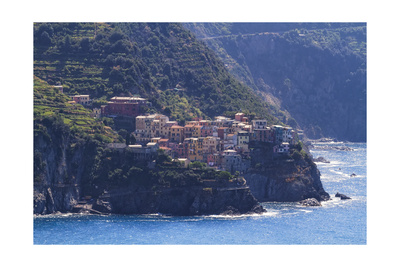 Small Town On A Cliff Photographic Print by George Oze