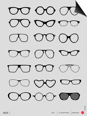 Glasses Poster I Prints by  NaxArt