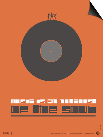 Music is the Soul Poster Prints by  NaxArt