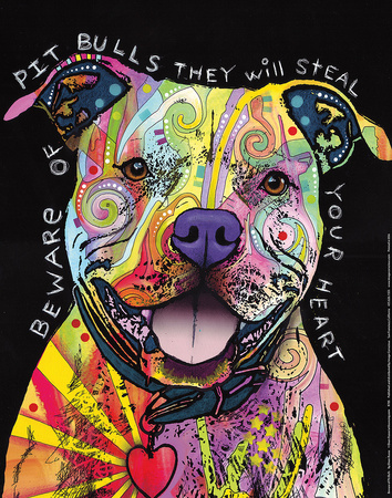 Beware of Pit Bulls Posters by Dean Russo