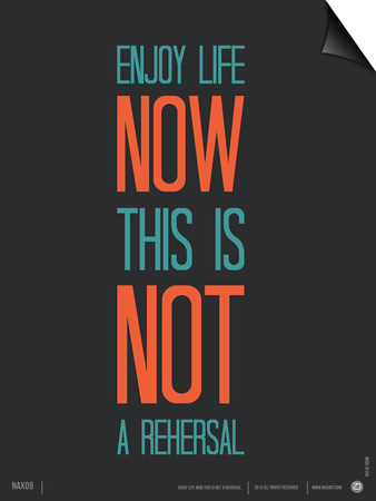 Enjoy Life Now Poster Posters by  NaxArt