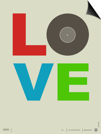 Love Poster Poster by  NaxArt