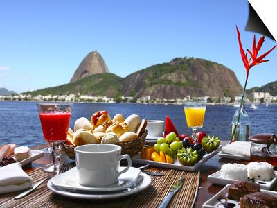 Breakfast In Rio De Janeiro Prints by luiz rocha