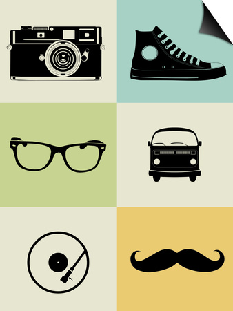 Hipster Mix Poster Print by  NaxArt