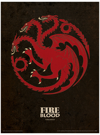 Game of Thrones - Targaryen Stampa master
