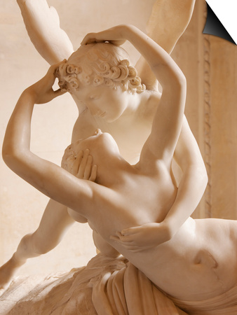 Canova's Statue 'Psyche Revived by Cupid's Kiss' Musee Du Louvre, Paris, France Art by Brian Jannsen