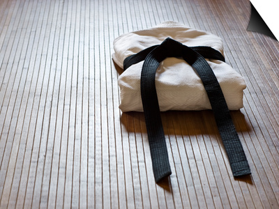 Judo Gi With Copy Space Print by  grapix