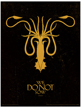 Game of Thrones - Greyjoy Masterprint
