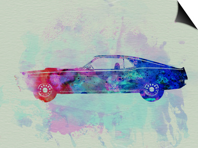 Ford Mustang Watercolor 1 Prints by  NaxArt