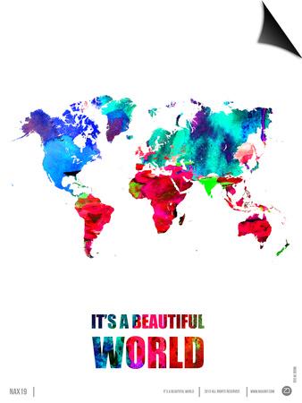 It's a Beautifull World Poster Prints by  NaxArt