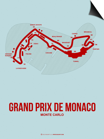 Monaco Grand Prix 3 Art by  NaxArt