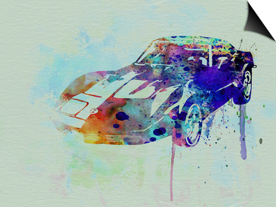 Corvette Watercolor Posters by  NaxArt