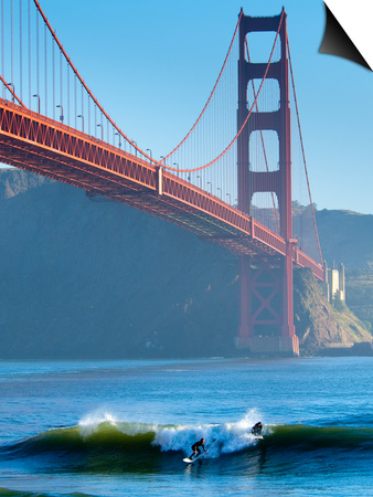 California, San Francisco, Golden Gate Bridge, USA Poster by Alan Copson