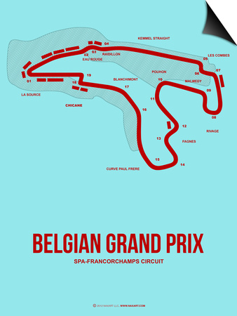 Belgian Grand Prix 3 Posters by  NaxArt