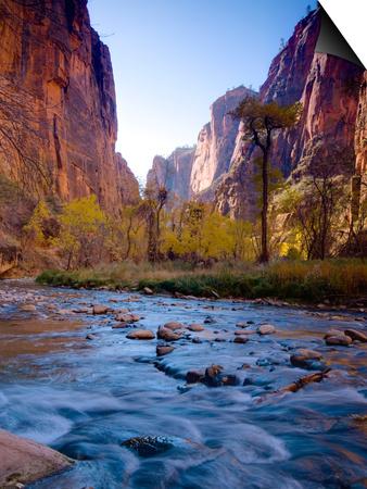 Utah, Zion National Park, the Narrows of North Fork Virgin River, USA Reprodukce Magnetic Art