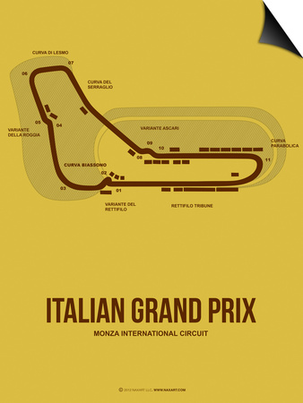 Italian Grand Prix 1 Prints by  NaxArt