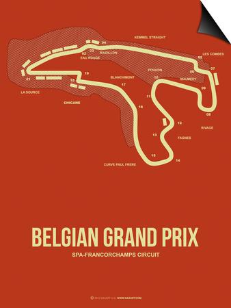 Belgian Grand Prix 2 Prints by  NaxArt