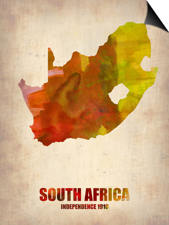 South African Map Art by  NaxArt