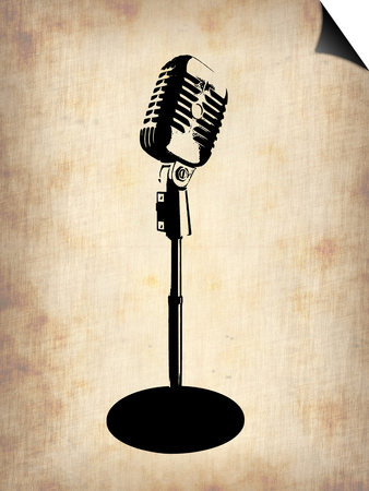 Vintage Microphone Prints by  NaxArt
