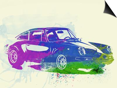 Porsche 911 Watercolor Prints by  NaxArt