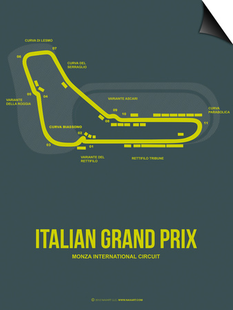 Italian Grand Prix 2 Poster by  NaxArt