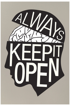 Always Keep It Open Plastic Sign Plastic Sign