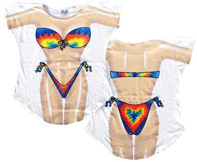 Tie Dye Bikini Cover-Up T-Shirt