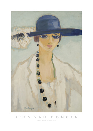 Lady with Beads, 1923 Print by Kees van Dongen