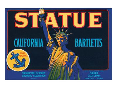 Statue California Bartletts Print