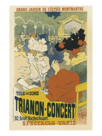 Trianon, Concert Grand Jardin De L'Elysee, Montmartre Prints by Henri Georges Jean Isidore Meunier