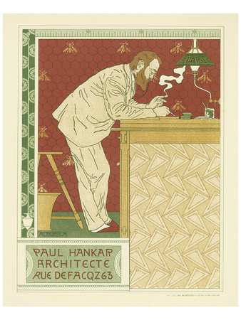 Paul Hankar Architecte Posters by Adolphe Crespin