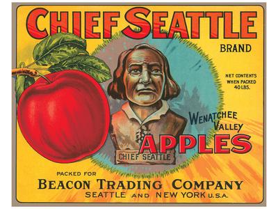 Chief Seattle Brand Wenatchee Valley Apples Prints