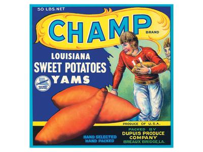 Champ Brand Louisiana Sweet Potatoes, Yams Prints