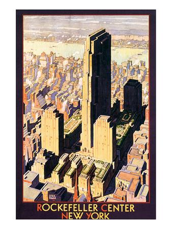 Rockefeller Center, New York Prints by Leslie Ragan