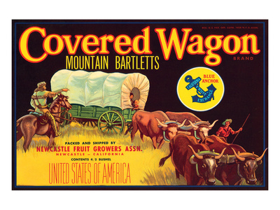 Covered Wagon Brand Mountain Bartletts Prints